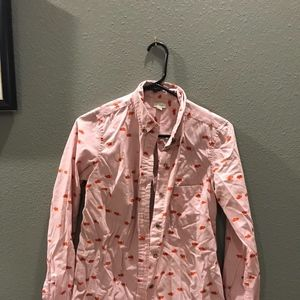 Anthropologie Blouse with cute mouse pattern!